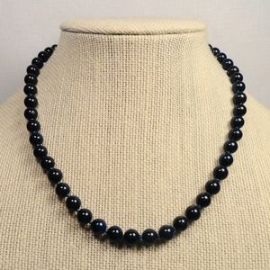 Jewelry - Natural Dark Blue Lapis Lazuli Gemstone Necklace
